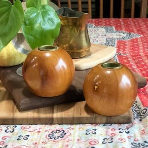Other - Myrtle wood round candle holders set of 2